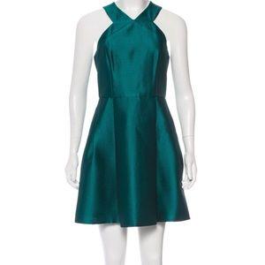NWT Tibi teal metallic mini dress